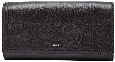 Fossil Women's Logan Leather RFID-Blocking Flap Clutch Wallet
