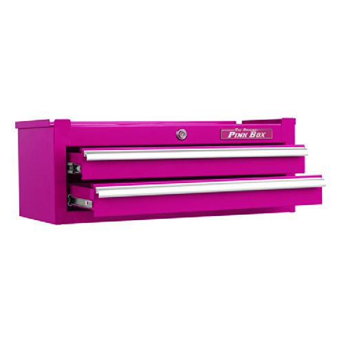 The Original Pink Box PB2602IC 26-Inch 2-Drawer 18G Steel Intermediate Tool Chest, Pink by The Original Pink Box