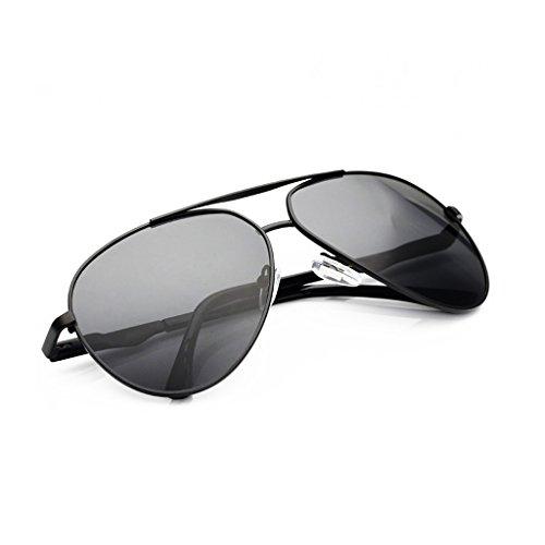 La Hombre Estuche HD Pesca Moda 400 Protección Color Sol Metálico UV Negro De De HAIYING Con Redonda Para Conducción Retro Gafas Lentes Libre Adultos Visera Al De Marco Para Taiyangjing Negro Aire zqBwRngPR