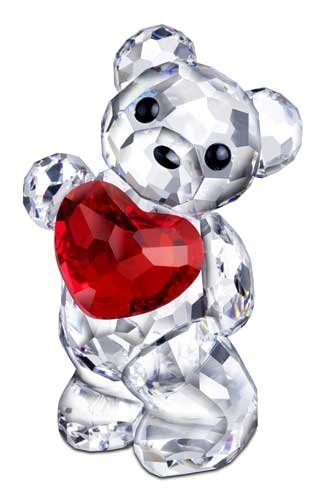 Swarovski 958449 Kris Bear Figurine, a Heart for You -