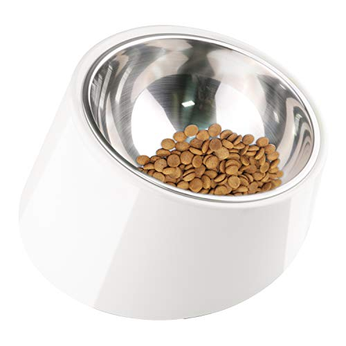 Super Design Mess Free 15 Degree Slanted Bowl for Dogs and Cats ()