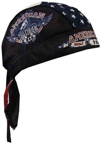 (Hot Leathers HWH1046 American Ride Eagle Head Wrap (Black))