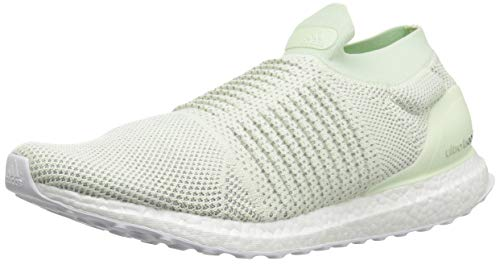 adidas Men's Ultraboost Laceless LTD, ash aero Green/White, 11.5 M US