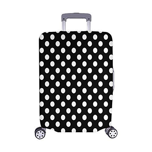 Girly Dot - InterestPrint Girly Polka Dots Travel Luggage Cover Suitcase Baggage Protector Fits 22
