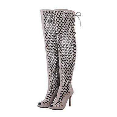 Tacones de mujer de primavera / verano / otoño / invierno Gladiator / confort / Novedad Polipiel Mié.Ding / Fiesta &/ Noche / vestimenta casual Gray