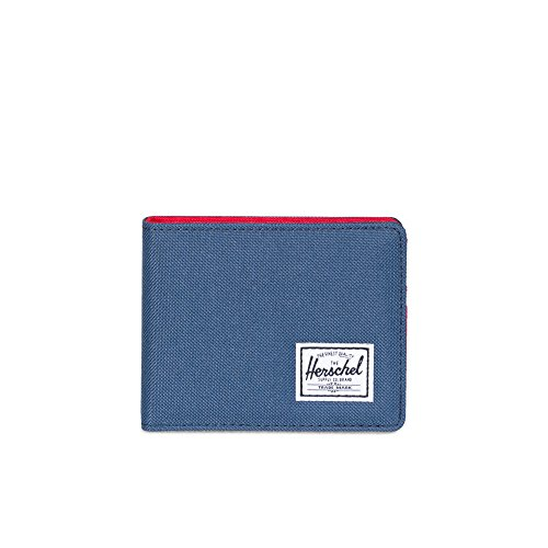 Herschel Men's Roy RFID Wallet, Navy/Red, One Size
