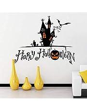 Halloween Decoration Pumpkin Glass Window Wall Sticker