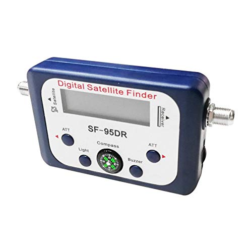 SF-95DR Digital Satellite Finder Meter TV Signal Receiver Sat Decoder Compass blue by Robincure