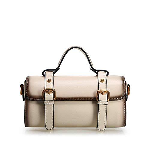 Borsa Portatile 23 Vintage Di Femminile 11 Blanco Casualmente 23cm Rosa Pelle Borsa Una nq0pfn