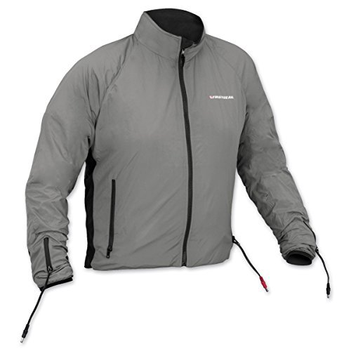 Firstgear 90-Watt Warm and Safe Men's Grey Heated Jacket Liner, XL
