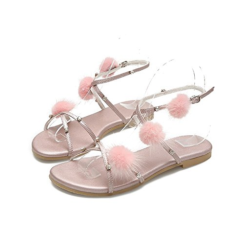 JUWOJIA Women'S Shoes Strap Bohemia Beach Cool Buckled Drill Flat Water Sandals Summer Pink New Slippers rwq0IXr
