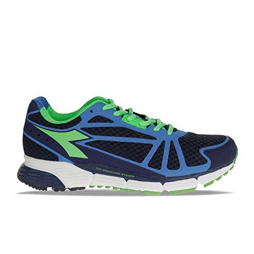 Diadora Chaussures de Course Pour Homme Patriot Blue/Fluo Green/Palace Blue