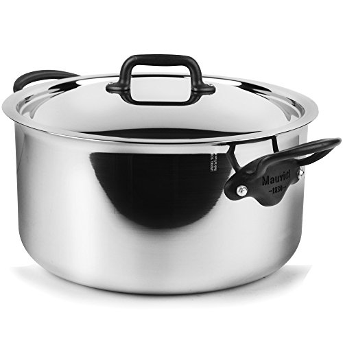 Mauviel M'Cook Pro 5-ply Stainless Steel 9.1-quart Stock P