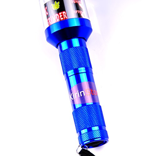 Kirinstores (TM) Flashlight Shaped Herb Tobacco Smoke Spice Crusher Electric Grinder Mill - Blue