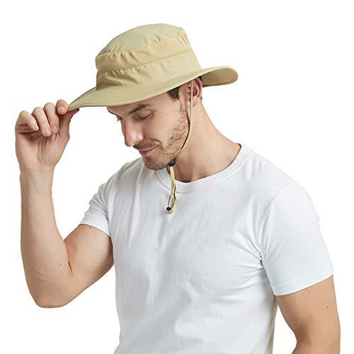 EINSKEY Cappello Pescatore Uomo Estivo Tesa Larga Safari Boonie Bucket Hat  Pieghevole Impermeabile con Protezione Collo e Maschera Rimovibile   Amazon.it  ... d443d2d9b76b