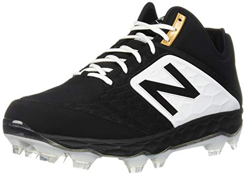 - New Balance Men's 3000v4 Baseball Shoe, Black/White, 7 D US