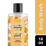 Love Beauty and Planet Sun Kissed Glow Turmeric & Tonka Essence Body Wash 16 oz