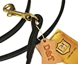 Dean and Tyler No Nonsense Leash Hand Stitched with Solid Brass Hardware, Black, 6-Feet by 1/2-Inch, My Pet Supplies