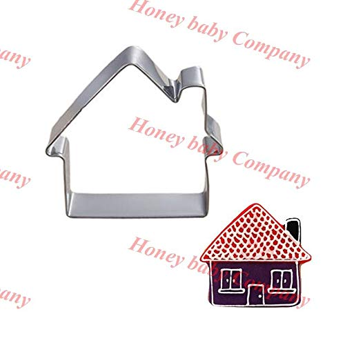 Thermostat Oven - Stainless Steel Cartoon House With Chimney Dove Of Peace Biscuit Mold Castle Shape Baking - Decorating Fondant Tulip Dogs Accessories Cutter Adults Storage Paper Cupcake