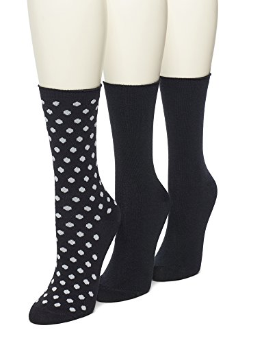 No nonsense Women's Jeans Sock, 3 Pair Pack, Dot-Black, 4-10