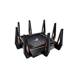Built for gaming with high speed & Gigabit ISP services, the GT-AX11000 offers that fastest Wi-Fi for current 802.11AC devices as well as next Gen 802.11ax devices. The GT-AX11000 produces Gigabit speeds while providing extensive range fo...