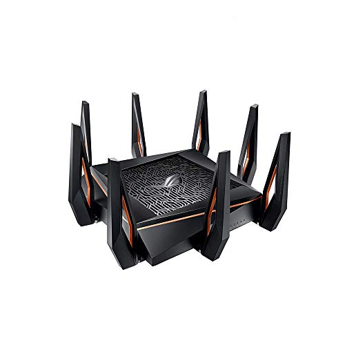 ASUS ROG Rapture GT-AX11000 AX11000 Tri-Band 10 Gigabit WiFi Router, Aiprotection Lifetime Security by Trend Micro, Aimesh Compatible for Mesh WIFI System, Next-Gen Wifi 6, Wireless 802.11Ax, 8 X Giga (10 Best Wireless Routers)