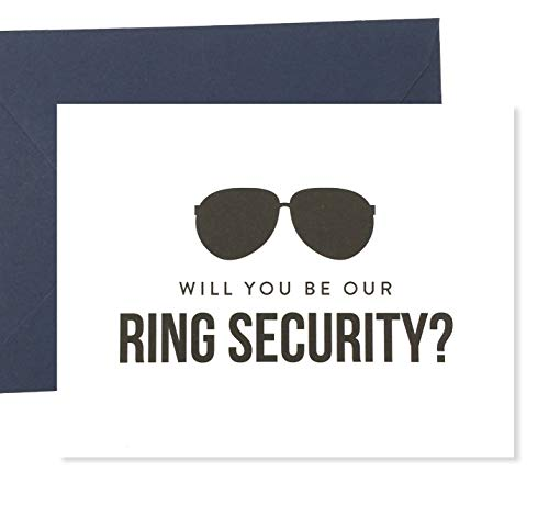 Will You Be Our Ring Security Card, Funny Ring Bearer Card, Ring Bearer Gift, Wedding Card (FPS0006)