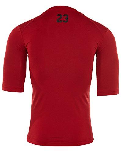 Jordan AJ All Season 23 Compression Training Shirt Mens Gym Red/Black