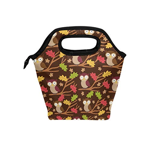 Fallen Leaves And Owls Ice Packs For Lunch Box Insulated Cooler Lunch Box Lunch Bag Leakproof Slim & Long-Lasting Ice Pack For Your Lunch Or Cooler Bag