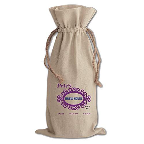 Custom Since 1982 Stout Pale ale Cotton Canvas Wine Bag Cotton Drawstring