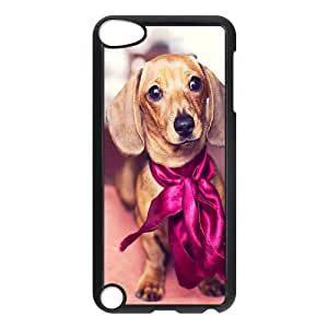 Cheap Hard Back Cover Case for Ipod Touch 5 Phone Case - Cute Dog Dachshund HX-MI-103569