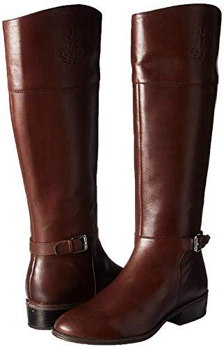 Lauren Ralph Lauren Women's Madisen Fashion Boot, Dark Brown, 7.5 B US (Ralph Lauren Boots Rain)