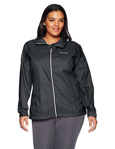 Columbia Women's Plus Size Switchback Iii Jacket, Black, 1X by Columbia
