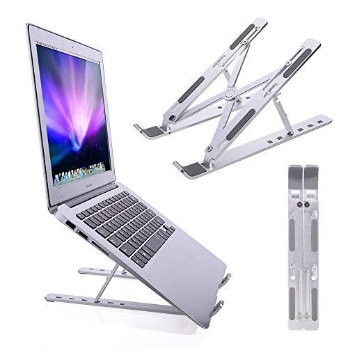 ICONFLANG Portable Laptop Stand, Adjustable Aluminum Laptop Computer Tablet Stand Mount, Foldable Desktop Holder…