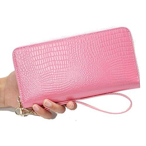 (Long Handbag Single Zipper Patent Leather Mobile Phone Women Wallet)