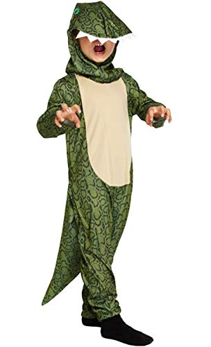 B&S Trendz Childs Green Dinosaur Godzilla T-Rex Onesie Fancy Dress Book Week Costume #Medium 7-9]()