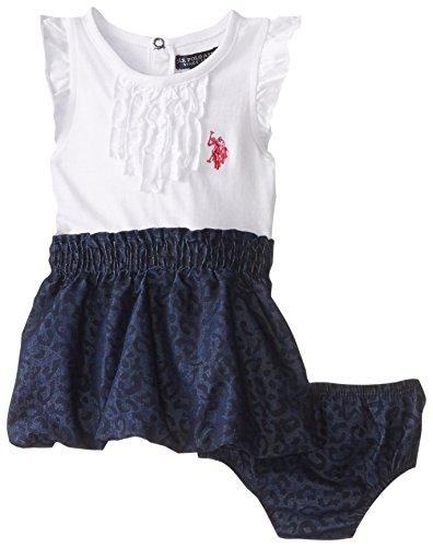 U.S. Polo Assn. Baby Girls' Ruffle Trim Dress