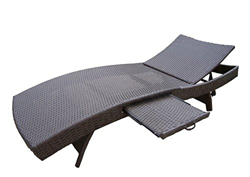Oakland Living Elite Resin Wicker Chaise Lounge, Coffee