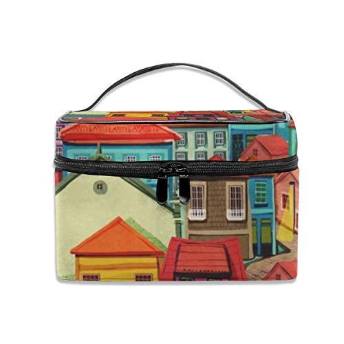 (Porto Portable Travel Makeup Bag Cosmetic Organizer Tote Bag for Women Girls)