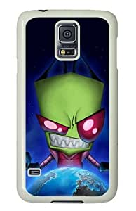 Samsung Galaxy S5 Case and Cover - Alien Invader Zim PC Hard Case Cover for Samsung Galaxy S5 White