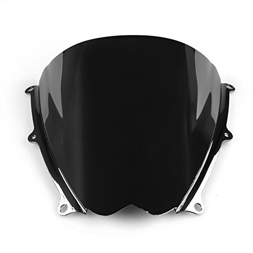 Artudatech Windshield WindScreen Double Bubble For Suzuki GSXR 1000 2007-2008 K7 Black丨ABS Plastic Injection ()