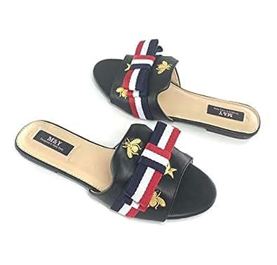 M&Y Woman slides slipper-Black