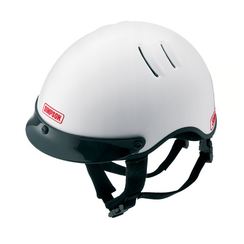 Simpson Racing 1430041 Over The Wall X-Large White Shorty Helmet ()