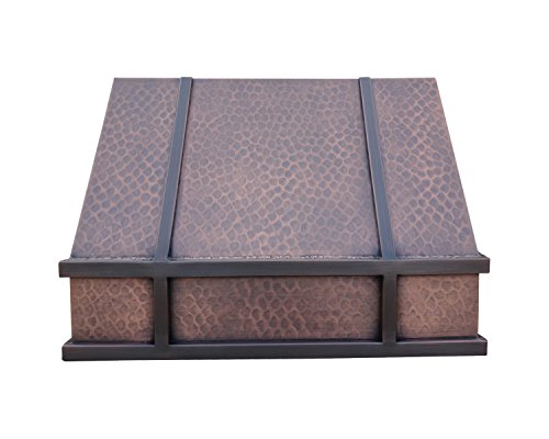 Copper Best H11 302118L Copper Range Hood with Liner and Internal Motor Under Cabinet 30 inches (Island Hood Liner)