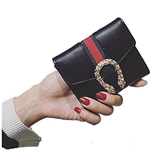 OrangeABC Small Compact Bi-fold PU leather Pocket ()