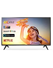TCL 65DP602 Smart TV de 65 Pulgadas con UHD 4K, HDR, Dolby Digital Plus, T-Cast y sintonizador Triple, Color Negro [Clase de eficiencia energética A+]