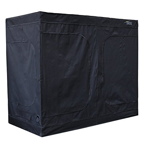 iPower 96''x48''x80'' Hydroponic Water-Resistant Grow Tent with Removable Floor Tray for Indoor Seedling Plant Growing 4'x8' by iPower