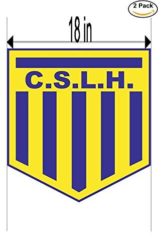 fan products of Club Sportivo Las Heras de Concordia Argentina Soccer Football Club FC 2 Stickers Car Bumper Window Sticker Decal Huge 18 inches