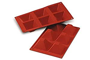 Sf007 molde de silicona pir mides 6 cavidades color terracota hogar - Moldes silicona amazon ...
