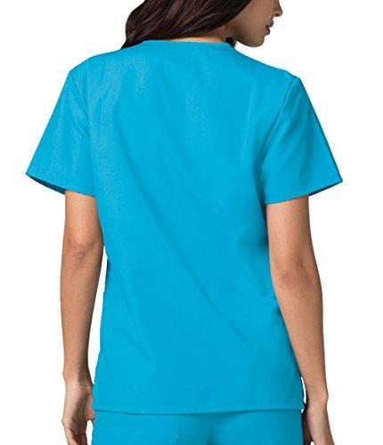Ospedale Turchese Da Uniformi turquoise Infermiera Parte Adar Lavoro Mediche Superiore Camice Unisex nxf0v0Oq1S